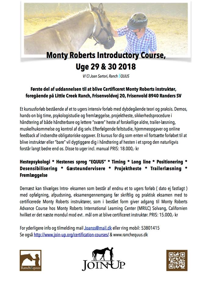 Monty Roberts Introductory Course_uge 29-30 2018